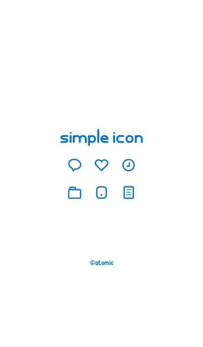 Simple icon [White&Blue] No.115