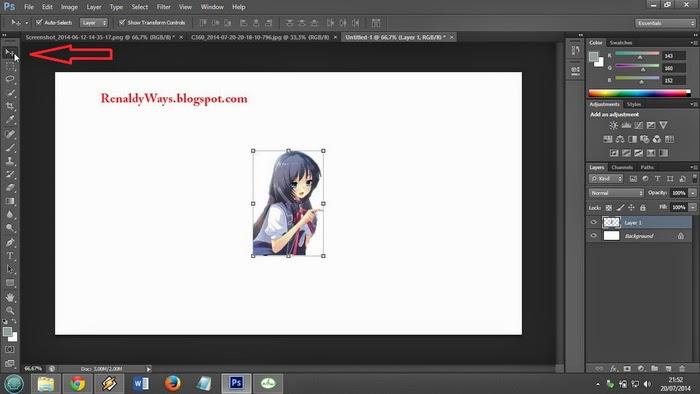 Cara Memindahkan Objek Foto Menggunakan Photo Shop