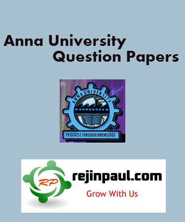 Anna University 1st Semester Model Question Paper Regulation