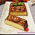 Pastel de crema de vainilla y chocolate