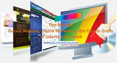 Gambar Posting Tips Mencari Kursus Website, Digital Marketing, dan Desain Grafis di Jakarta dan Depok