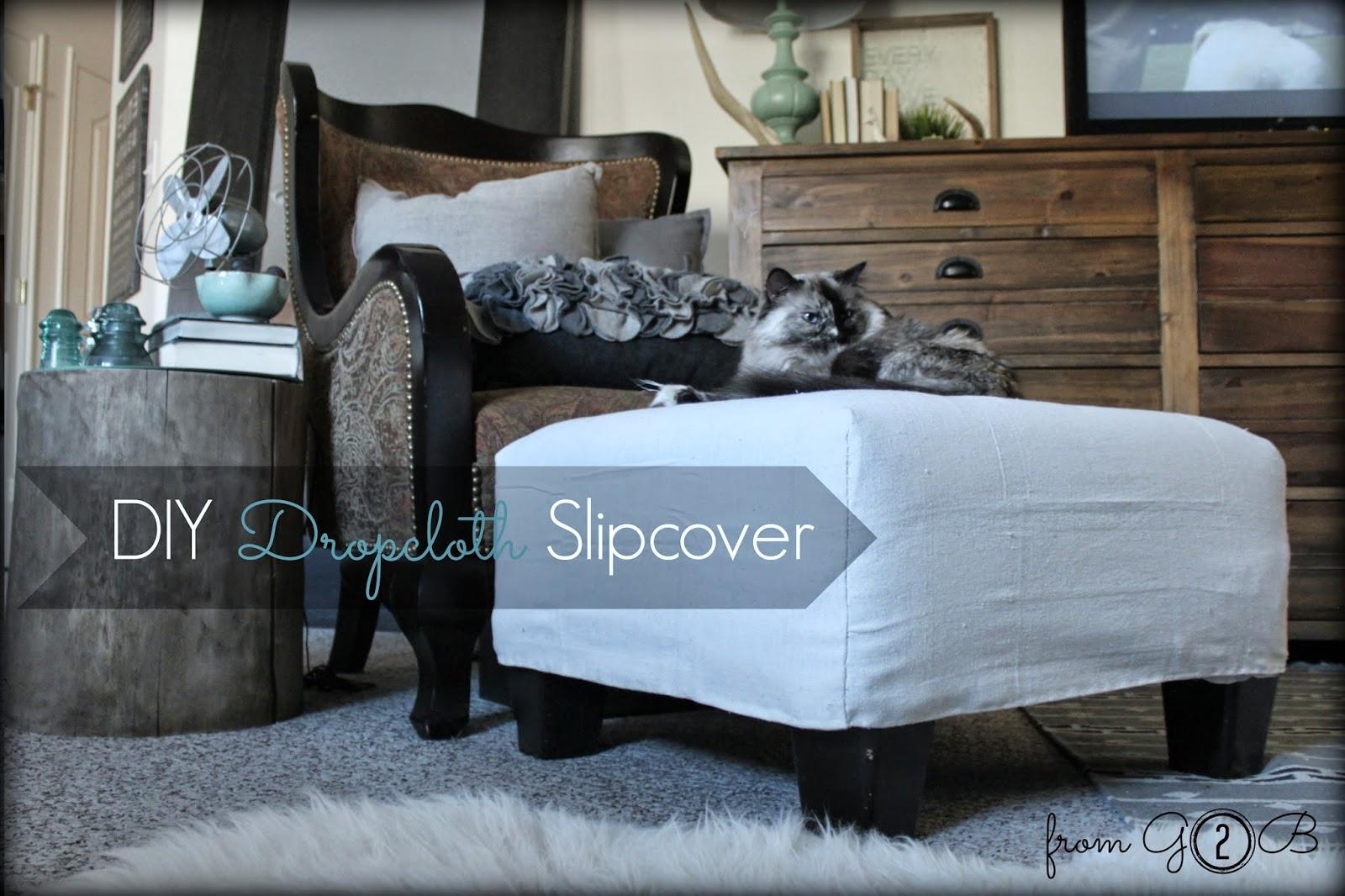 From Gardners 2 Bergers Diy Dropcloth Slipcover
