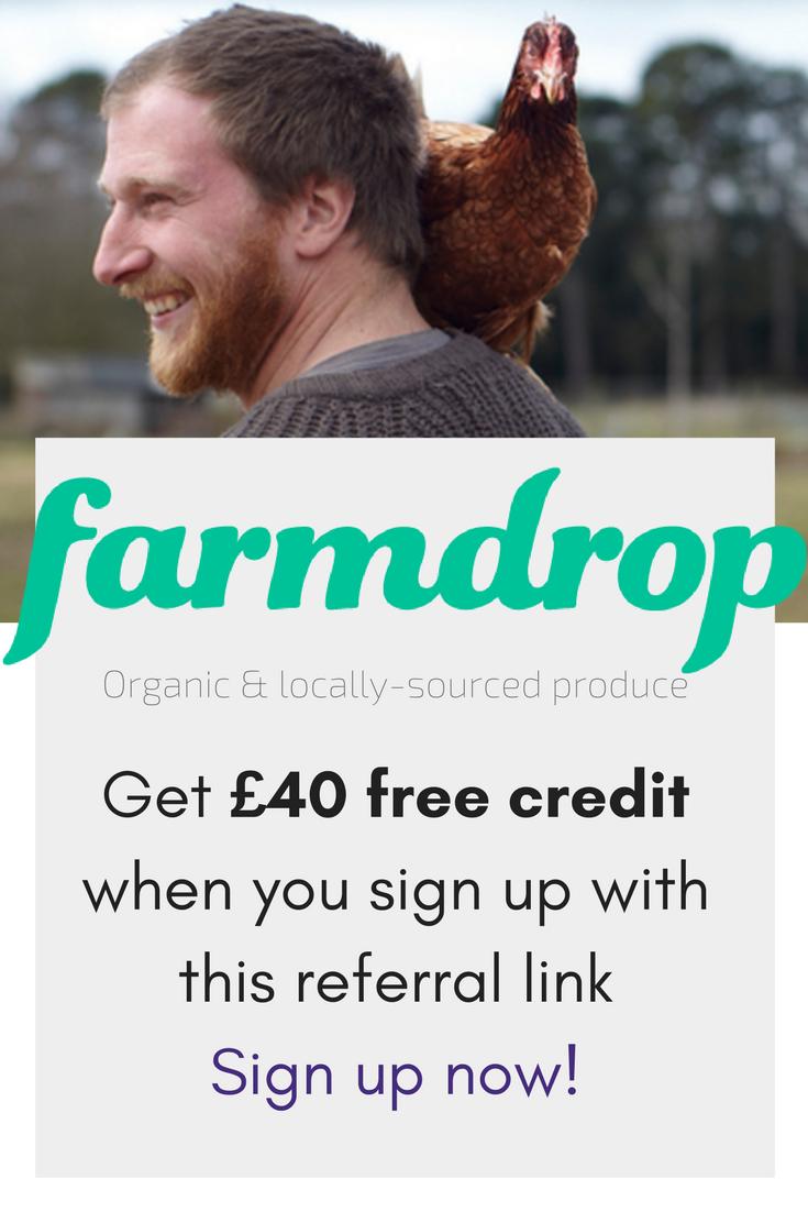Farmdrop London // Free £40 credit, offer code, promo code, referral link
