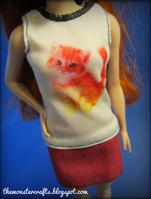 Barbie fashionistas petite cat top Kitty Cute 47