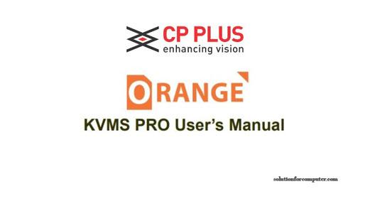 KVMS Pro CP Plus software user's manual