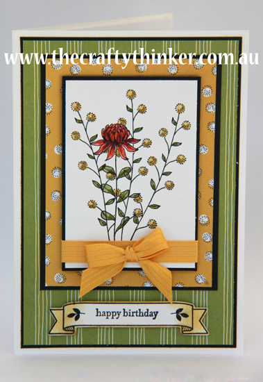 SU, Flowering Fields, Layered card, handmade birthday card