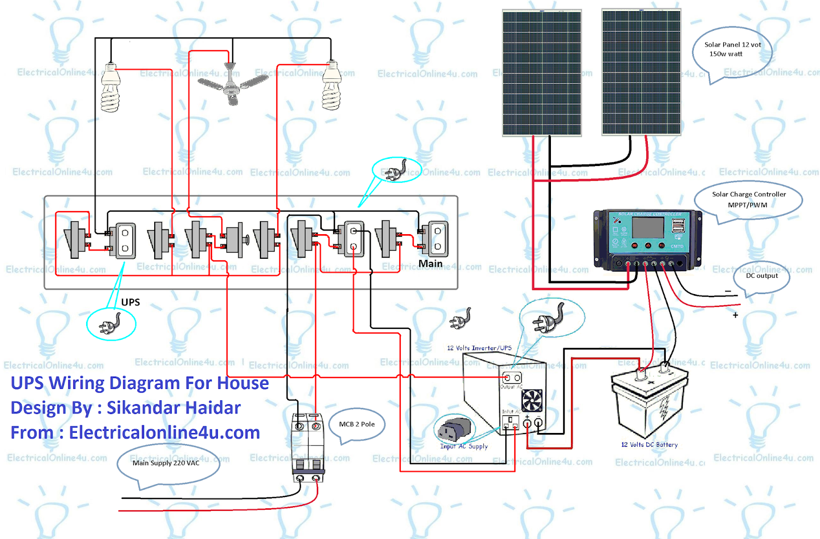 Charge Controller Circuit Diagram On Outlet Wiring Diagram Parallel