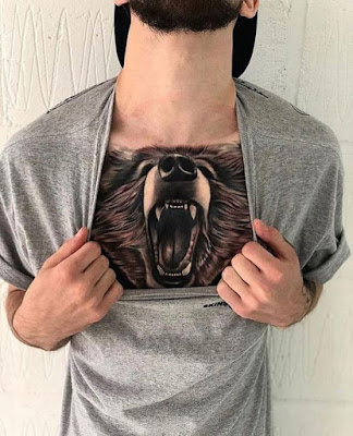 bear chest tattoo