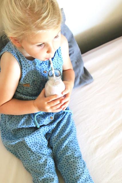Die - ersten - 1000 - Tage - Heidelbeer  - Joghurt - Smoothie