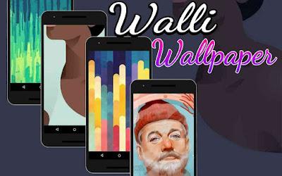 Wallpaper aplikasi walli