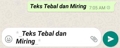 seperti membuat teks dalam format tebal  Cara Membuat Tulisan Tebal, Miring dan Dicoret di WhatsApp