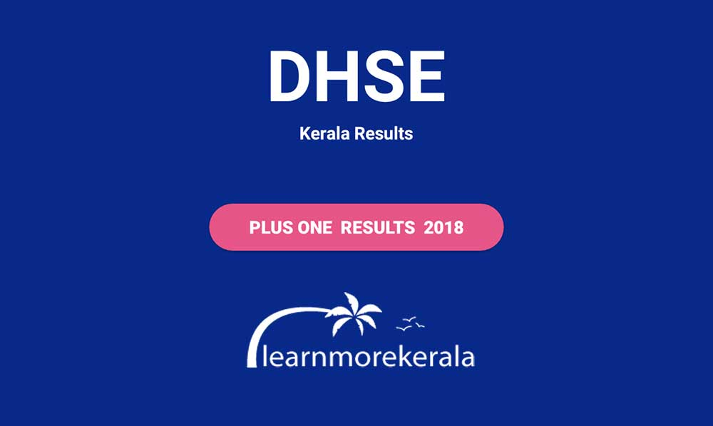 kerala plus one result 2018