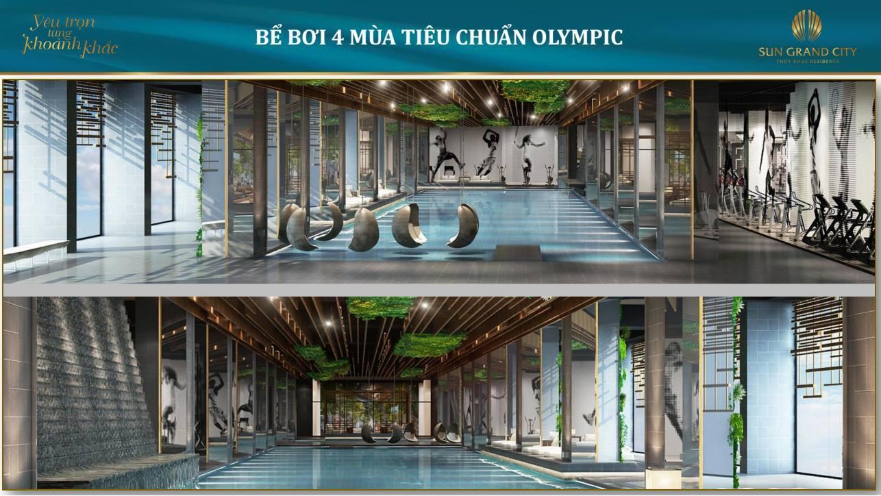 Bể bơi tiện ích Sun Grand City Láng Hạ