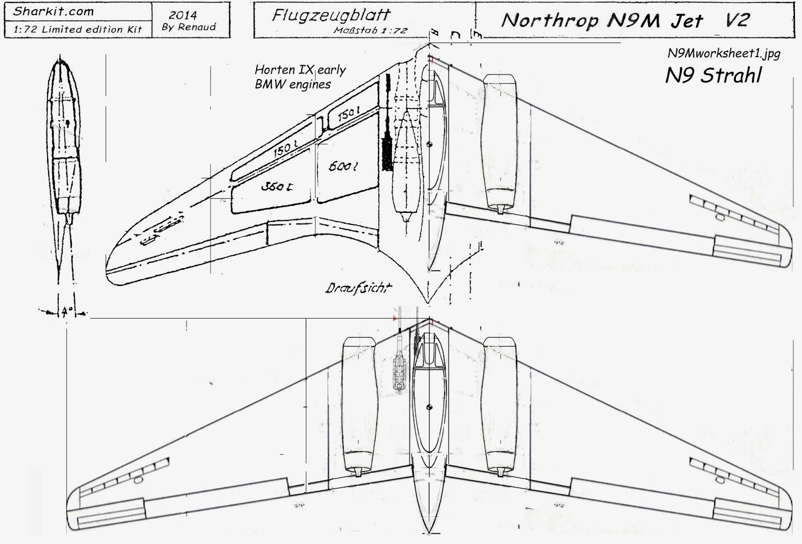 Renax Sharkit 1 72 Resin Kits Northrop N9m Jet Engined