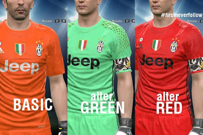 Juventus 16/17 Goal Keeper Alternative Kits