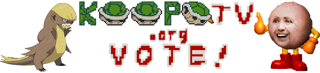KoopaTV vote election day 2016 logo Gumshoos Pac-Man Hillary Clinton Donald Trump
