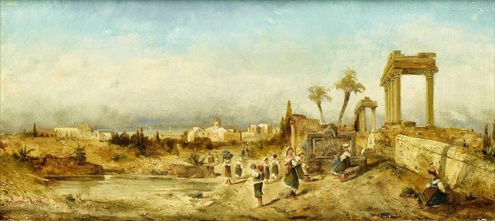 لوحات نادرة مصر بعيون Hermann Corrodi   - مجموعة اولى