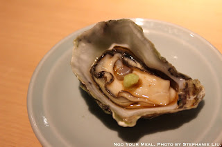 Kumamoto Oyster from California with Fresh Citrus and Wasabi at NAOE