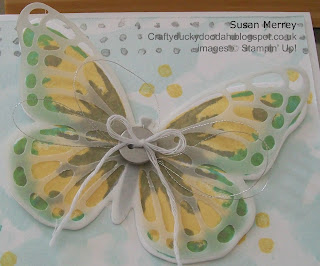 Stampin' Up! Made by Independent Stampin' Up! Demonstrator Susan Merrey Craftyduckydoodah! Watercolour Wings Bold Butterfly Thinlets Butterfly Thinlets