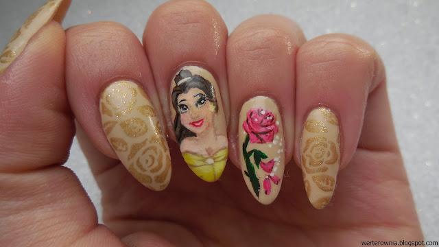Zdobienie paznokci inspirowane Piękną i Bestią