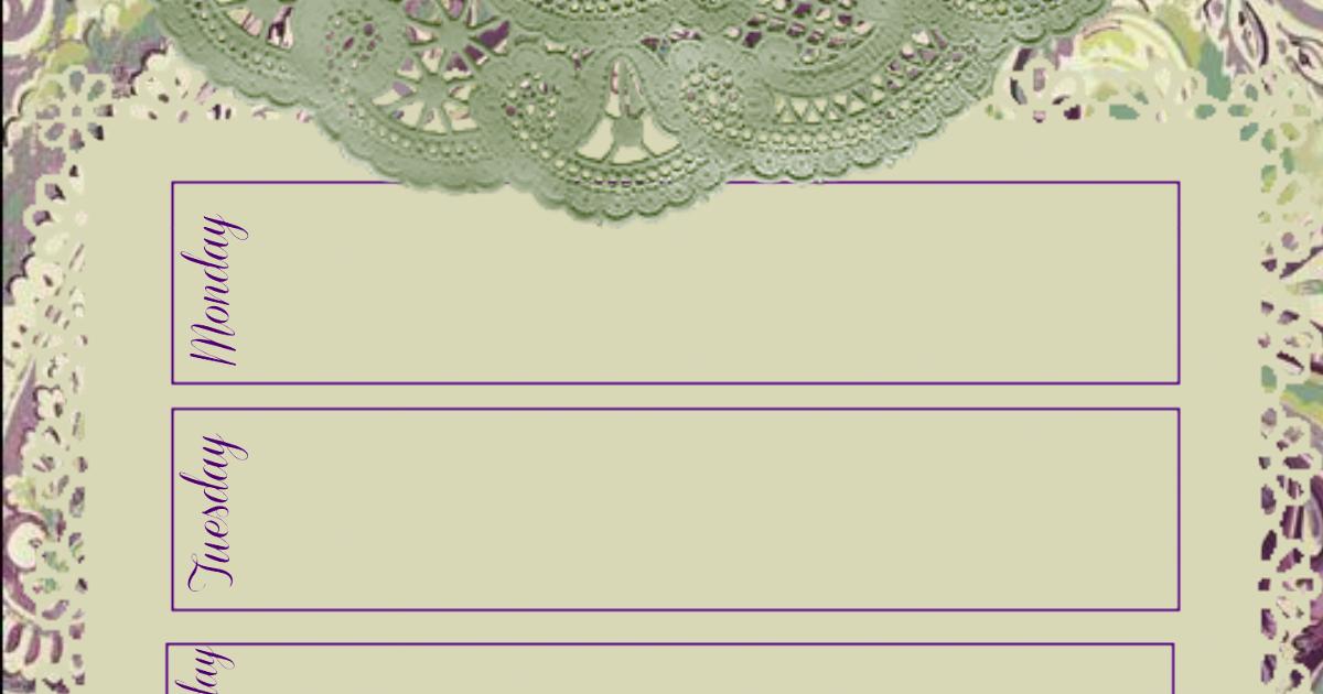 glenda s world paisley n lace week at a glance journal calendar