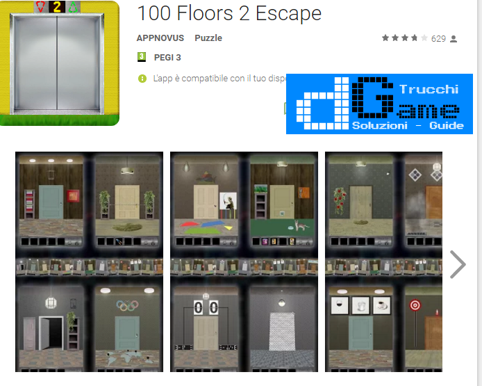 Soluzioni 100 Floors 2 Escape livello 51-52-53-54-55 | Trucchi e Walkthrough level