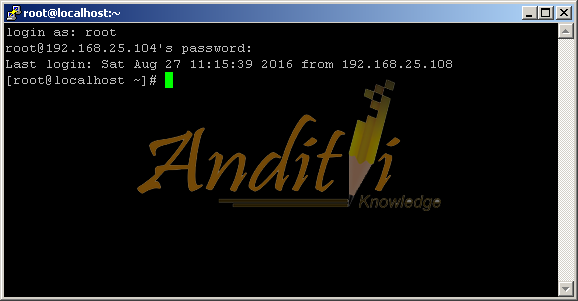 Step By Step Konfigurasi Telnet Server di Centos 7 Full Pict - anditii.web.id