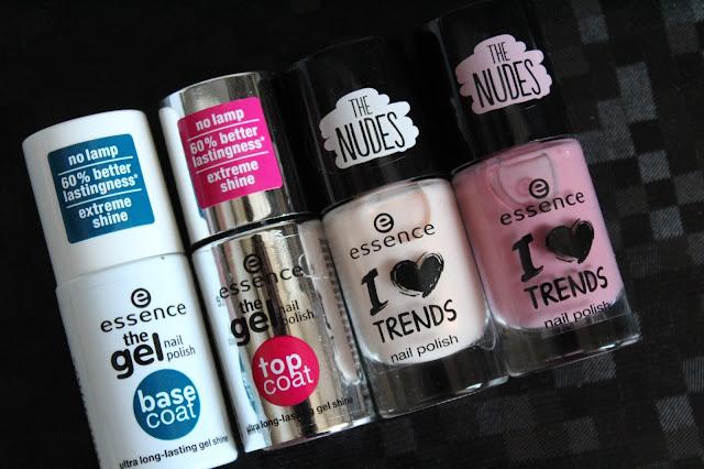 Essence the gel nail polish duo (base coat/top coat) i lakovi iz kolekcije The Nudes