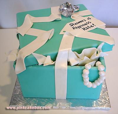 Tiffany and Co. Bridal Shower Cake  Tiffany Bridal Shower Cakes