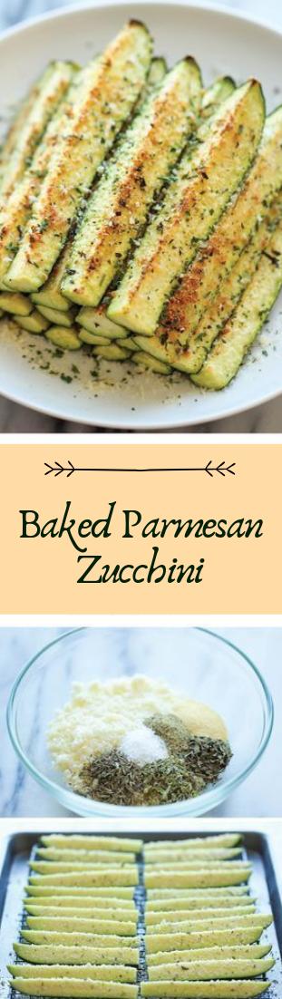 Baked Parmesan Zucchini #vegan #recipevegetarian