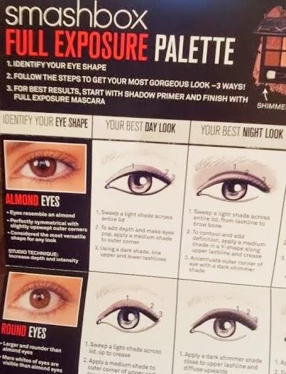 smashbox full exposure eye shadow guide