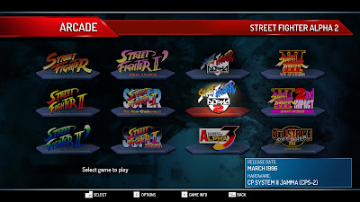Street Fighter 30th Anniversary Collection - the 12 playable games