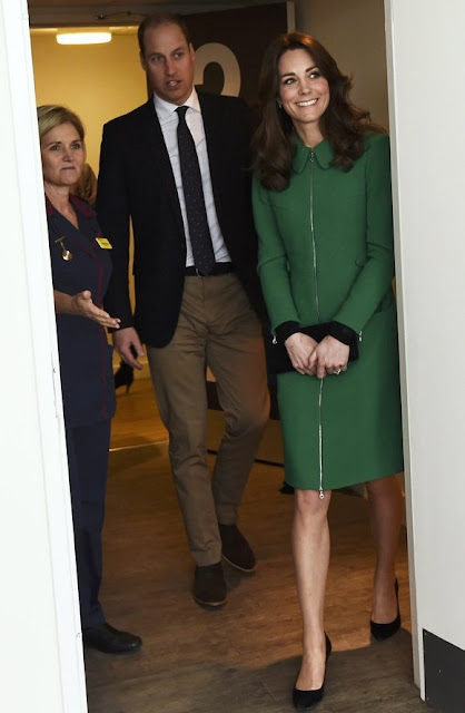 Kate Middleton and Prince William arrives to speak to former patients as they their visit to St Thomas' Hospital