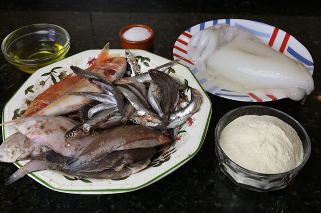 Ingredientes para frito gaditano