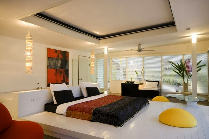Bedroom in Exotic contemporary style house in Bali