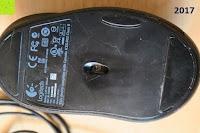 schmutzig: Logitech G400 optische Gaming Maus schnurgebunden