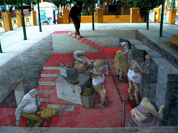 Chuck' Fun Street Chalk Art