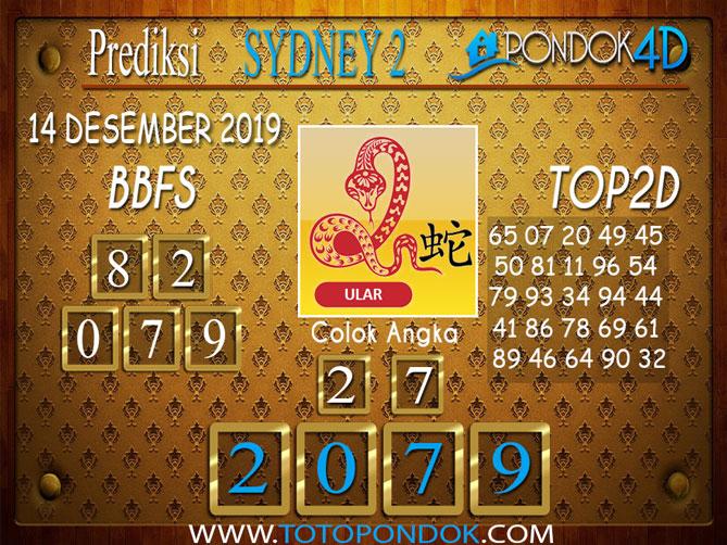 Prediksi Togel SYDNEY 2 PONDOK4D 14 DESEMBER 2019