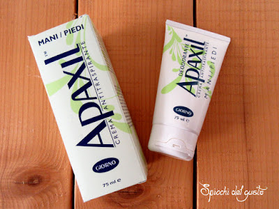Crema anti traspirazione deodorante per piedi/mani