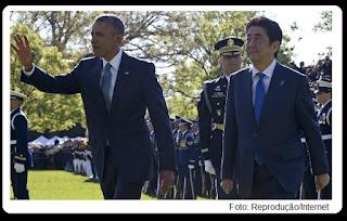Obama visita Hiroshima, cidade japonesa destruída por uma bomba atômica.