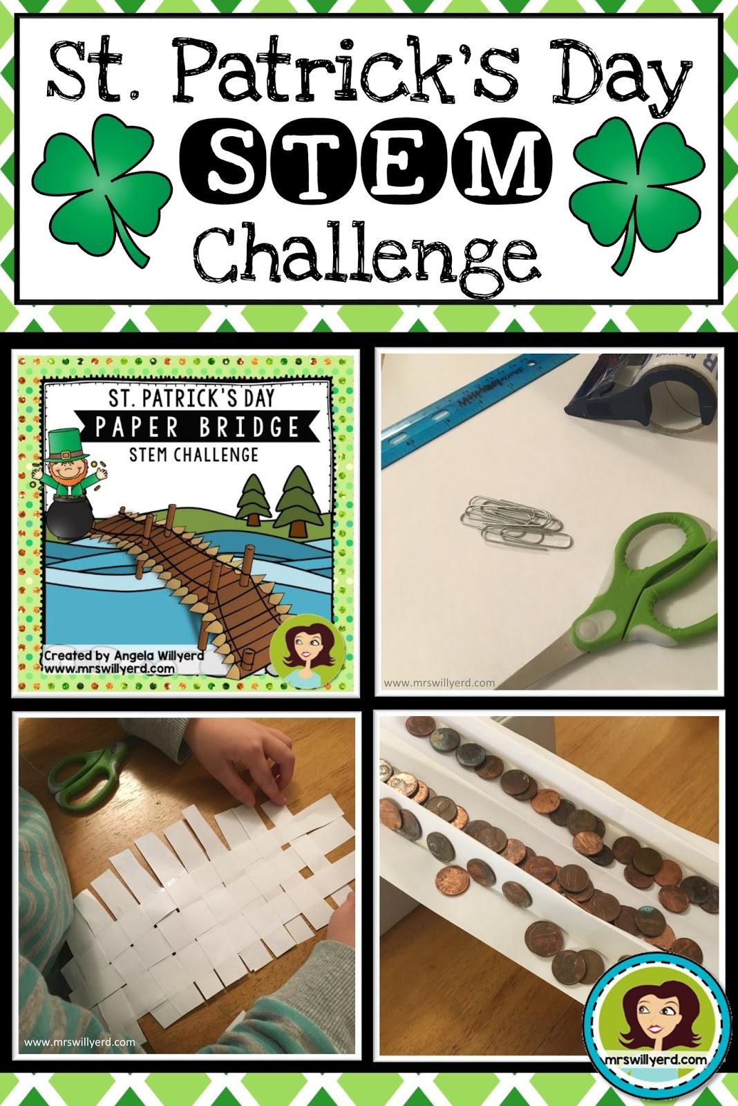 Mrs Willyerds Virtual Classroom St Patricks Day Stem Challenge