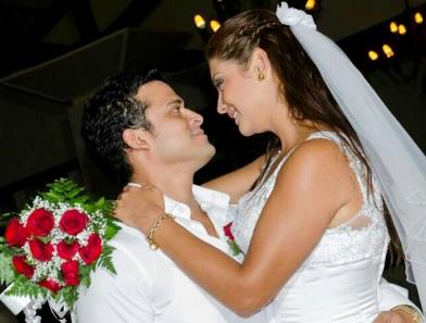 Foto de Christian Domínguez y Karla Tarazona en su matrimonio