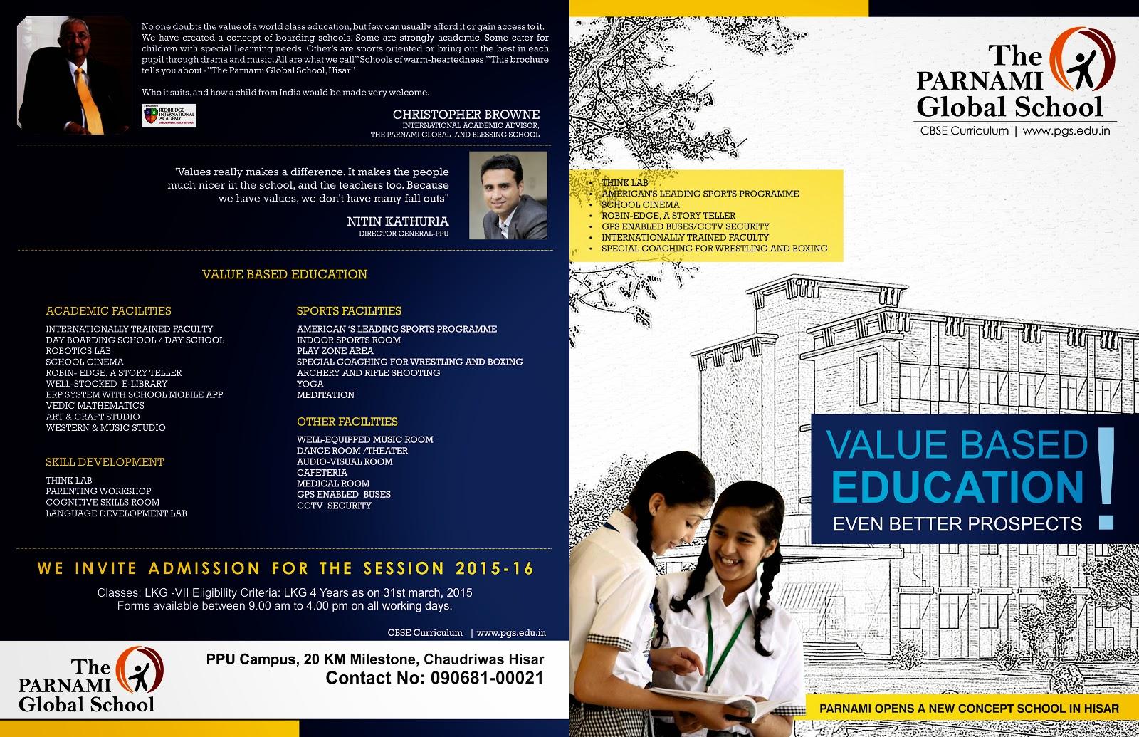 Pgschool Leaflet Design Idea Design By Designer World Team