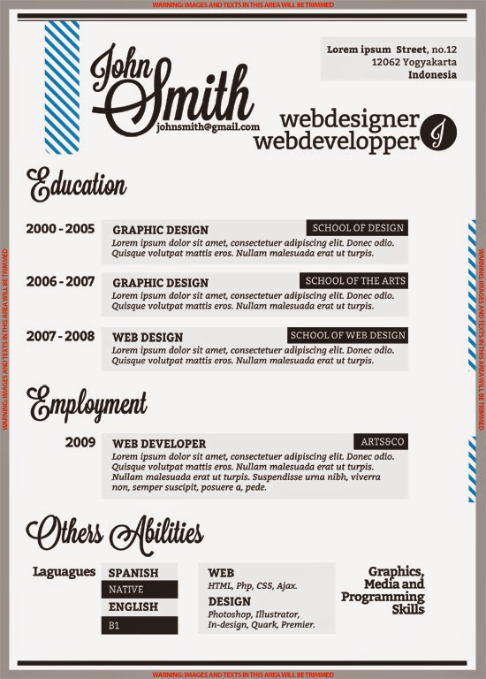 Plantilla Curriculum Vitae - More CV Samples