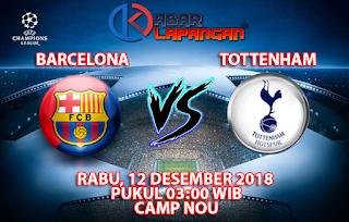 Prediksi Bola Barcelona vs Tottenham Hotspur 12 Desember 2018