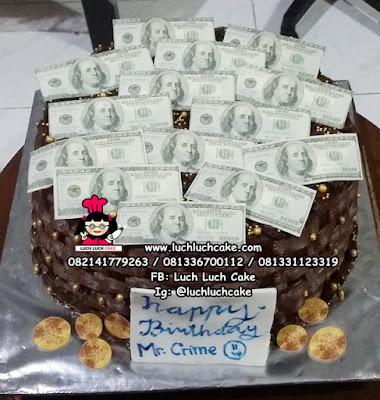 Kue Tart Uang Dollar