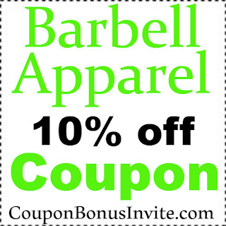 10% off Barbell Apparel Discount Coupon Code 2018 Jan, Feb, March, April, May, June