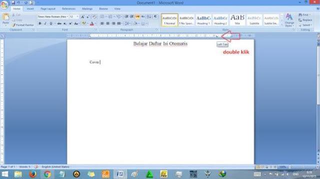 Cara Membuat Daftar Isi Otomatis Pada Ms word