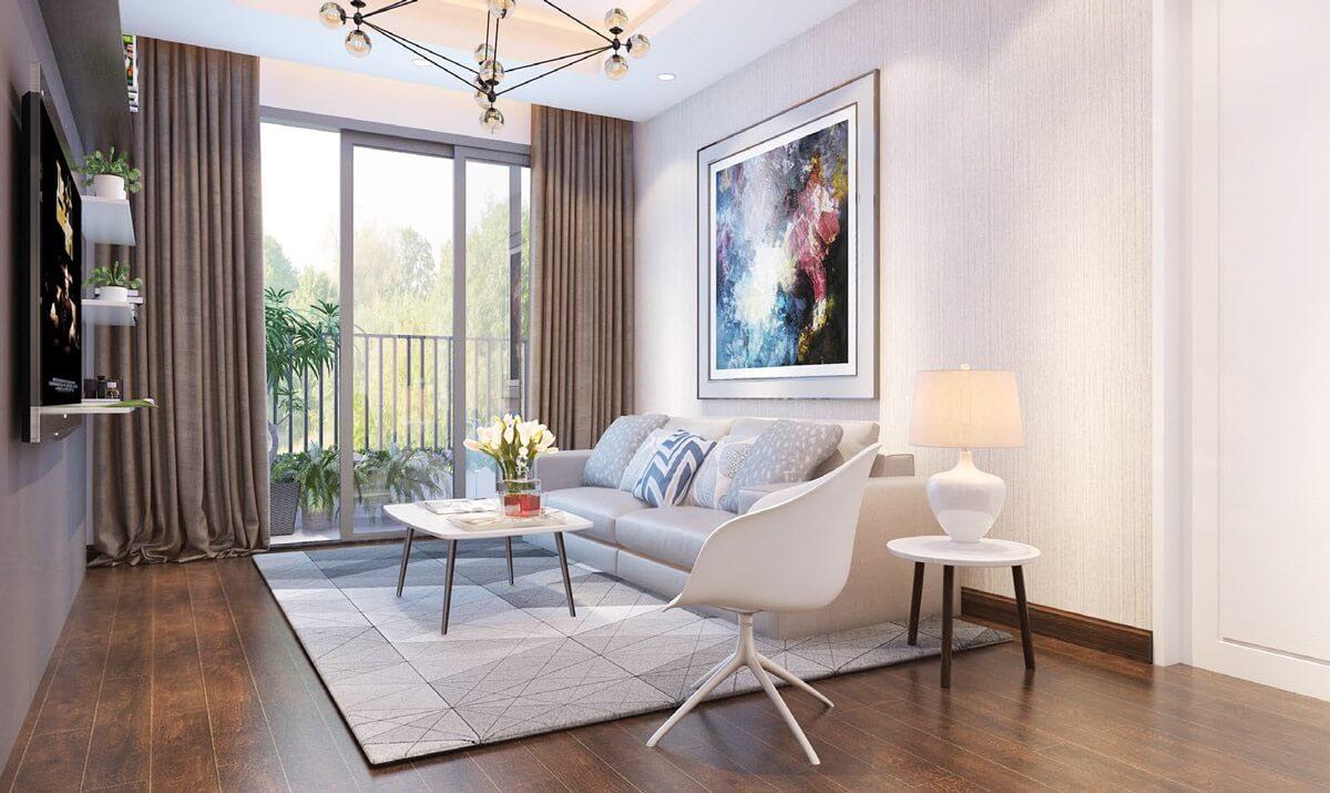 Căn hộ 2 ngủ chung cư AQH Riverside có thiết kế tinh tế ( ảnh minh họa ).