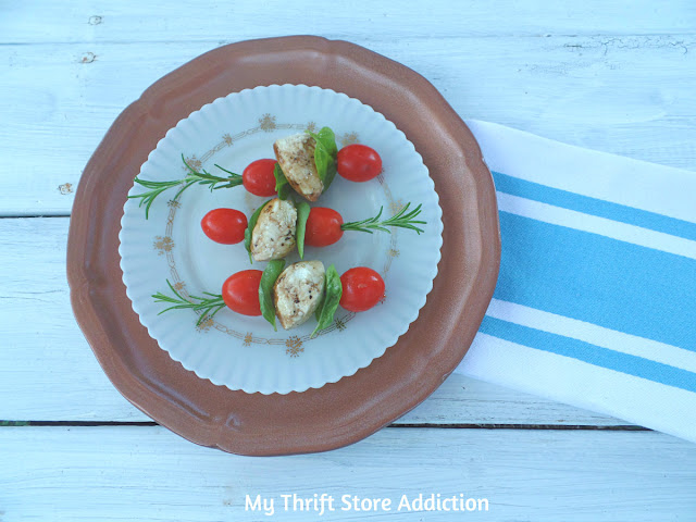 DIY hammered copper and caprese appetizer recipe